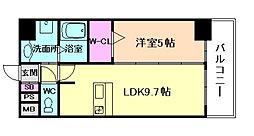 プレサンス梅田東クォーレ[4階]の間取り