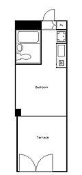 ライオンズマンション太子堂第2[101号室]の間取り