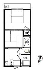 アパートメント正興No3[2階]の間取り