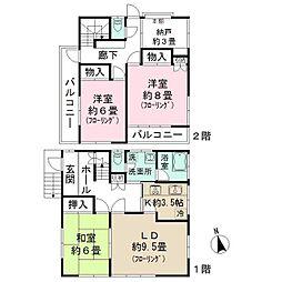 [一戸建] 東京都練馬区高松1丁目 の賃貸【/】の間取り