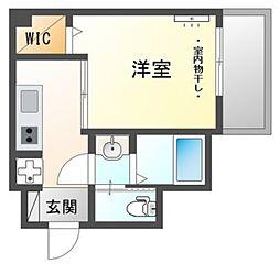 ijマンション 3階1Kの間取り