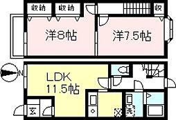 [テラスハウス] 神奈川県相模原市南区新戸 の賃貸【/】の間取り