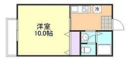 エタニティー安江 B[2階]の間取り