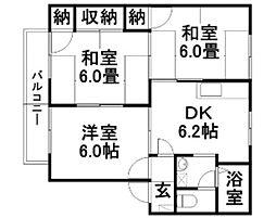 プロムナード D[108号室]の間取り