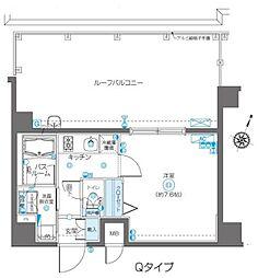 JR総武線 飯田橋駅 徒歩9分の賃貸マンション 4階1Kの間取り