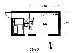 アパートメントKURO白金高輪[2階]の間取り