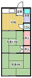 コードイカリ2[202号室]の間取り