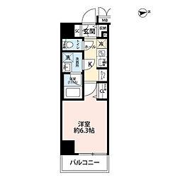 プレール・ドゥーク浅草IV 3階1Kの間取り
