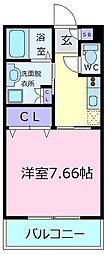 ユニストレジデンス北野田[1階]の間取り