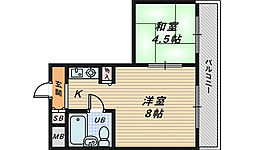 パープルマンション3[3階]の間取り