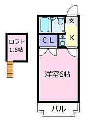 セジュール松原[2階]の間取り