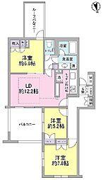 東急田園都市線 宮崎台駅 徒歩8分の賃貸マンション 2階3LDKの間取り