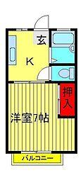 サンシティ梅郷[2階]の間取り