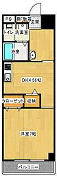 神奈川県川崎市多摩区長尾4丁目の賃貸マンションの間取り