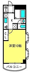 フローレンス東大成[3階]の間取り