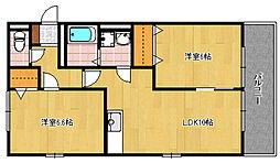 セピアコート(大隈)A[2階]の間取り