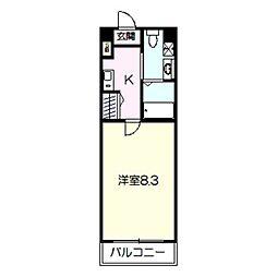 HR・FRONT・REGAL平野 8階1Kの間取り