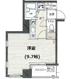 シンシア麻布十番[6階]の間取り