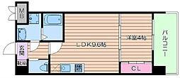阪急千里線 北千里駅 徒歩13分の賃貸マンション 3階1LDKの間取り