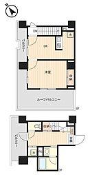 東京メトロ有楽町線 月島駅 徒歩3分の賃貸マンション 7階1DKの間取り