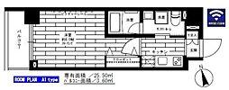 東京メトロ日比谷線 入谷駅 徒歩6分の賃貸マンション 6階1Kの間取り