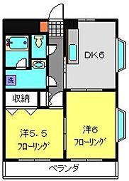 クレールハイツ小机[302号室]の間取り