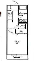 東武東上線 朝霞駅 徒歩11分の賃貸アパート 2階1Kの間取り