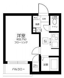 Casa Dolce Higashi Nakano 1階1Kの間取り