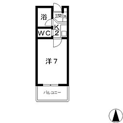ミヨシマンション幸[201号室]の間取り