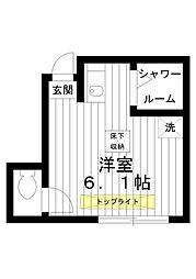 東京都練馬区豊玉南3丁目の賃貸アパートの間取り