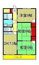 第2パークマンション西原[2階]の間取り