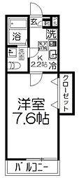 JR京浜東北・根岸線 大宮駅 徒歩25分の賃貸アパート 1階1Kの間取り