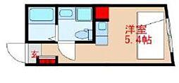 東武東上線 中板橋駅 徒歩1分の賃貸マンション 4階ワンルームの間取り
