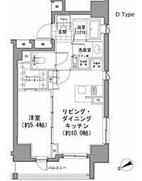 パークハビオ八丁堀[7階]の間取り