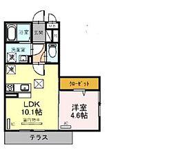 JR京浜東北・根岸線 大宮駅 徒歩23分の賃貸アパート 1階1LDKの間取り