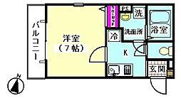 DESIO大岡山[206号室]の間取り