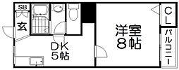 楠葉ハイツ[4階]の間取り