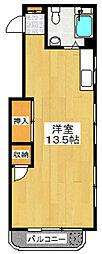 田村コーポ[204号室]の間取り