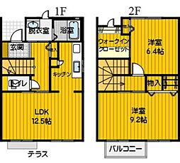 パークサイドテラス12 D[2号室]の間取り