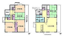 [一戸建] 大阪府箕面市桜ケ丘2丁目 の賃貸【/】の間取り