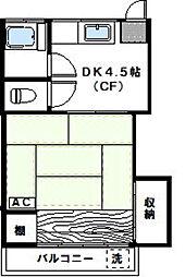 神奈川県川崎市高津区溝口1丁目の賃貸アパートの間取り