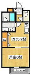 ピュアハイムKERO[3階]の間取り