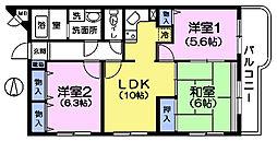 都民住宅エミネンス高野台[5階]の間取り