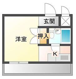愛知県岡崎市法性寺町字荒子の賃貸マンションの間取り
