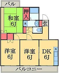 千葉県千葉市緑区おゆみ野中央5丁目の賃貸マンションの間取り
