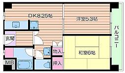 大阪府吹田市出口町の賃貸マンションの間取り