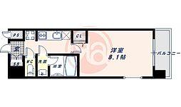 近鉄南大阪線 河堀口駅 徒歩7分の賃貸マンション 7階1Kの間取り
