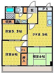 第93新井ビル[202号室]の間取り