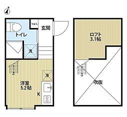 メゾンドソレイユ[1階]の間取り