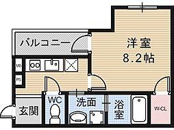 大阪府大阪市住吉区遠里小野2丁目の賃貸アパートの間取り